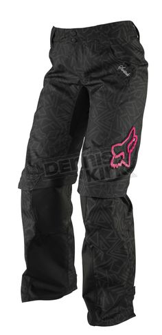 Fox Racing Womens Black/Pink Switch Pants