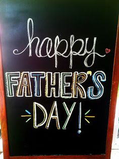 Happy Father's Day chalkboard