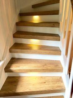 Treppenrenovierung und Treppensanierung von Vinylstufen Vinyltreppen Renovate stairs with vinyl steps from staircase renovation cabinet Modern Staircase, Staircase Design, Stair Design, Stair Renovation, Escalier Design, Staircase Makeover, Wooden Stairs, Stairs Vinyl, Stairways