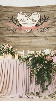 Wedding Backdrop, Rustic Wedding Backdrop, Rustic Wedding Decor Decorations, Engagement Party Decorations, Shower Decorations #ad