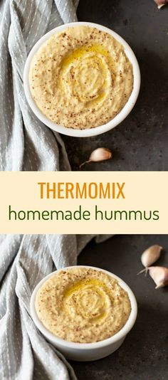 Thermomix Hummus – an easy recipe that's delicious and affordable. Can be whipped up in the Thermomix in less than 10 minutes! via Thermomix Diva Chocolate Hummus, Healthy Chocolate, Thermomix Recipes Healthy, Cooking Recipes, Vegetarian Recipes, Graham Crackers, Superfood, Dessert Hummus Recipe, Classic Hummus Recipe