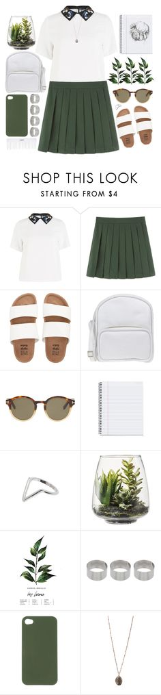 """Untitled #933"" by chantellehofland ❤ liked on Polyvore featuring Sportmax, Billabong, Jil Sander Navy, Tom Ford, Conair, Threshold, ASOS, Nixon and Topshop"