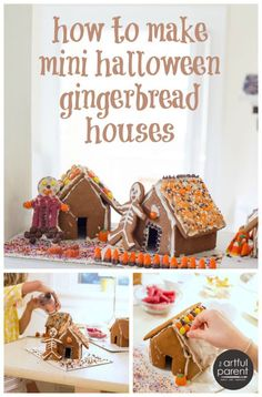 How to Make Mini Halloween Gingerbread Houses with Kids