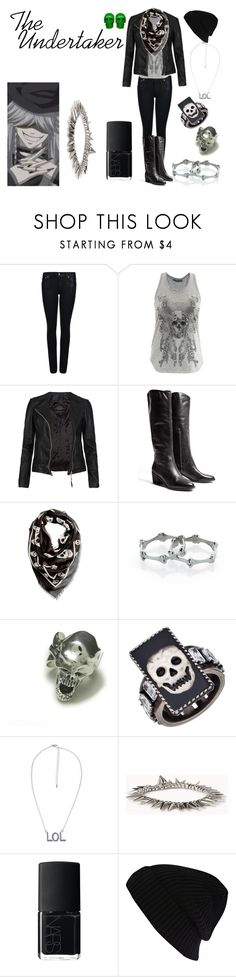 """""""The Undertaker"""" by casualanime ❤ liked on Polyvore featuring Helmut Lang, Alexander McQueen, AllSaints, Sam Edelman, MANGO, Meadowlark, Nicole Meng, Forever 21, NARS Cosmetics and River Island"""