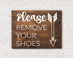 Entryway Sign Please Remove Your Shoes Sign No by EightPalms