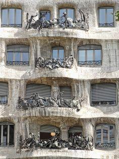 La Pedrera (Casa Mila) Balconies, Barcelona, Spain (Gaudi) by Atelier Teee