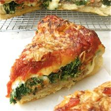 CHICAGO STYLE DEEP DISH STUFFED PIZZA - This recipe is a project, no doubt about it. Homemade crust, slowly simmered sauce, even homemade sausage — all contribute to the pizza's wonderful marriage of flavors and textures.