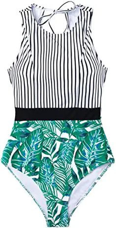 Amazon.com : teen swimsuits for teenagers girls one piece Striped Swimsuit, Plus Size Swimwear, 34c, Affordable Fashion, Women Swimsuits, Black Stripes, One Piece Swimsuit, Bathing Suits, Cute Outfits