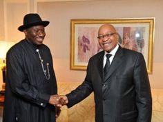 This is the main difference between Jacob Zuma and the president of Nigeria, Goodluck Jonathan. Both men run Africa's largest economies. Bot