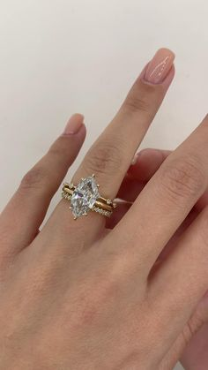 Diamond Shaped Engagement Ring, Stacked Engagement Ring, Engagement Ring Shapes, Beautiful Engagement Rings, Special Engagement Rings, Marquise Cut Engagement Rings, Marquise Wedding Rings, Custom Engagement Rings, Vintage Inspired Engagement Rings