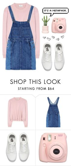 """""""Pastel Edits In Real Life ~ Dan"""" by dyingflowers ❤ liked on Polyvore featuring Acne Studios, Current/Elliott, Vans and Fujifilm"""