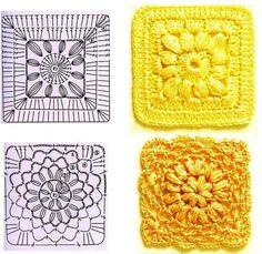 carres & motifs au crochet - Le monde-creatif
