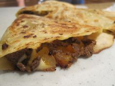 Venison Quesadillas-cause the hubs is goin hunting