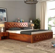 Simple wooden bed designs 2018 simple bed designs in wood with storage queen size wooden bed . Box Bed Design, Bedroom Bed Design, Bedroom Furniture Design, Bed Furniture, Furniture Makeover, Furniture Ideas, Wooden Bed With Storage, Bed Designs With Storage, Simple Bed Designs