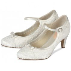 Vintage bridal shoes with clasp