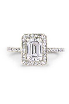 Louis Glick - 1.17ct Emerald Cut Diamond Ring from Osterjewelers.com