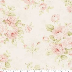 Pink Floral Fabric by Carousel Designs.