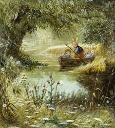 """The Secret Valley by Brian Paterson. This image featured in the Foxwood tale """"The Secret Valley"""" by Brian and Cynthia Paterson. Whimsical Illustration, Whimsical Art, Art, Childrens Art, Animal Illustration, Pictures, Cute Drawings, Fairytale Art, Vintage Illustration"""