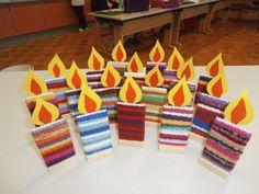 Arbeitet im Advent - Grundschule Gutau - DIY and crafts - Kunst Diy And Crafts, Crafts For Kids, Arts And Crafts, Paper Crafts, Light Fest, Weaving For Kids, Mario And Luigi, Kids Wood, Autumn Art