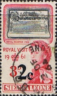 Sierra Leone 1964 Royal Visit Surcharged SG 315 Fine Mint Scott 272 Other African Stamps HERE
