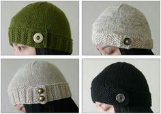 Looks like I have some more knitting to do.    http://i-like-lemons.blogspot.com/2008/01/button-tab-hat-pattern.html?m=1