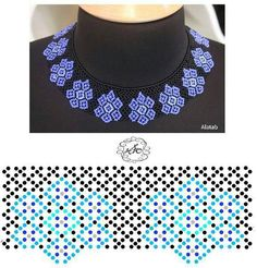 Schema for netting necklace ~ Seed Bead Tutorials Diy Necklace Patterns, Beaded Jewelry Patterns, Beading Patterns, Bead Jewellery, Seed Bead Jewelry, Jewelry Making Beads, Bead Loom Bracelets, Necklace Tutorial, Handmade Beads