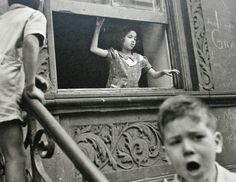 """Helen Levitt – was an American photographer. She was particularly noted for """"street photography"""" around New York City, and has been called """"the most celebrated and least known photographer of her time. Walker Evans, Greenwich Village, Leica, A Level Photography, Photography Logos, Lower East Side, Moma, New York Street, New York City"""