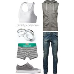 Untitled #175 by ohhhifyouonlyknew on Polyvore featuring adidas, Hollister Co. and Jack & Jones