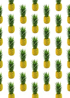 Pineapple Pattern Art Print. Copy onto my electric socket cover with my blush pink wall- I think yes!
