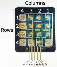 How to Set Up a Keypad on an Arduino - Back Side of Keypad