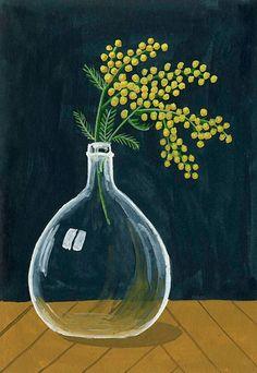 Mimosa - Mélanie Voituriez #gouache #melanievoituriez #illustration More