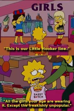 The world is pushing all this stuff on you. A Pep Talk From Lisa Simpson Simpsons Funny, Simpsons Quotes, The Simpsons, Lisa Simpson, Futurama, Stupid Funny, Hilarious, Funny Stuff, Stupid Stuff