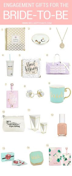 Engagement Gifts for The Bride-To-Be — WellKeptChaos