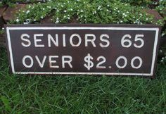 Large Vintage Campground Sign Seniors Over by MagellansBellyStudio