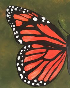 Butterfly Paint And Sip, Butterfly, Paintings, Canvas, Night, Paint, Painting Art, Painting, Bowties