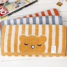 Pure cotton young long towel comfortable striped Towel 60*30cm free shipping