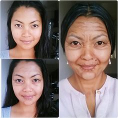Awesome old age makeup