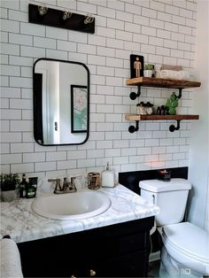 Sep 20, 2019 - See how this interior designer made-over her drab bathroom with l...#bathroom #designer #drab #interior #madeover #sep Bathroom Renos, Master Bathroom, Bathroom Ideas, Bathroom Designs, Bathroom Marble, Bathroom Wall, Modern Bathroom, Bathroom Lighting, Nautisches Bad