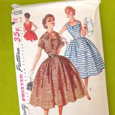 Vintage Simplicity 1056 Sewing Pattern  Rockabilly by SelvedgeShop, $18.00