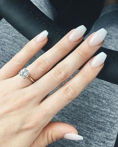 Design de unhas de noiva e casamento fotos de unhas de casamento - Braut Nägel - Bridal nails - Nailed It, Bride Nails, Wedding Nails Design, Wedding Designs, Super Nails, Nagel Gel, Natural Nails, Natural Wedding Nails, Simple Wedding Nails