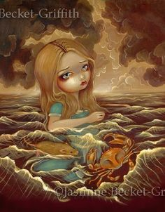 Alice in Wonderland Pool of Tears gothic fantasy by Jasmine Becket-Griffith