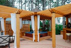 Backyard deck ideas with hot tub hot tub deck ideas conventional hot tub decks ideas hot . Hot Tub Pergola, Hot Tub Deck, Deck With Pergola, Pergola Patio, Pergola Curtains, Pergola Kits, Pergola Plans, Sheer Curtains, Pergola Shade
