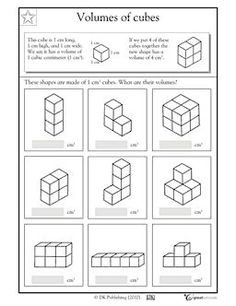 GREAT for beginners - Volume worksheet