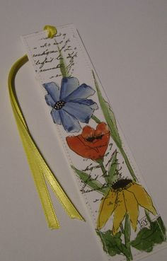 Watercolor Floral Bookmark