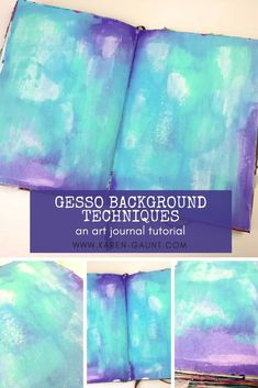 Art Journal Gesso | Art Journal Background IdeasGesso is a supply that I think is often overlooked or only thought of as a basic prepping supply. But that is really doing this amazing medium a big disservice. I love to use gesso in lots of different ways in my art journals and I am sharing a really great background idea with you here in this video.