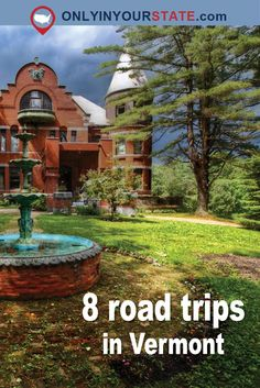 These Vermont road trips take the guess work out of where to go and let you start exploring. Pick a route and enjoy the day on one of these trips! New England States, New England Travel, East Coast Road Trip, Road Trip Usa, Places To Travel, Places To See, Travel Destinations, Stowe Vermont, Burlington Vermont