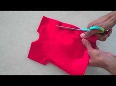 vestido fácil sin patrón Fabulous Felt: How to Make a Doll Dress : Easy - YouTube