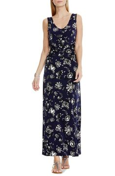 Vince Camuto Floral Print Double V-Neck Maxi Dress (Regular & Petite) available at #Nordstrom