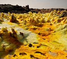 Great Rift Valley, Ethiopia: Dallol volcano in the Great Rift Valley - the world's largest rift system which stretches 6,000km