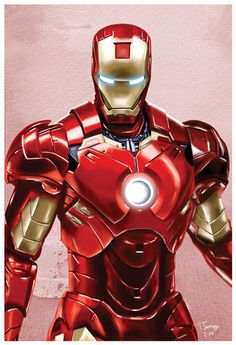 iron man marvel civil war fan art by artist tony santiago